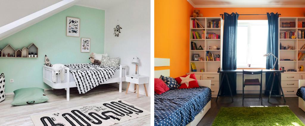 Colores para la decoración de recámaras para niñas y niños, 11 ideas increíbles