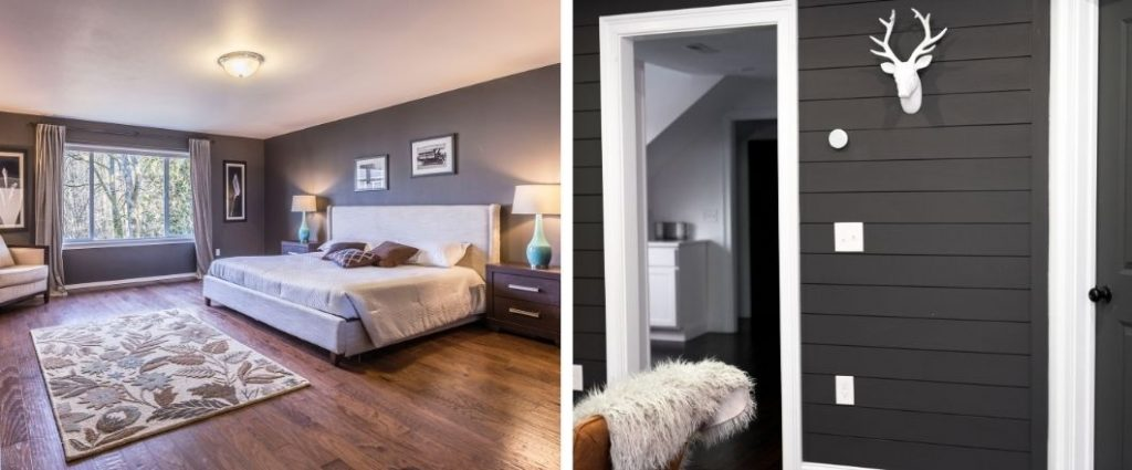 ¿Cómo pintar una habitación de dos colores?