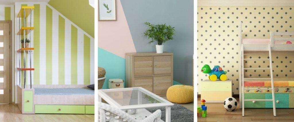 Ideas y diseños sencillos para pintar las paredes de tu casa